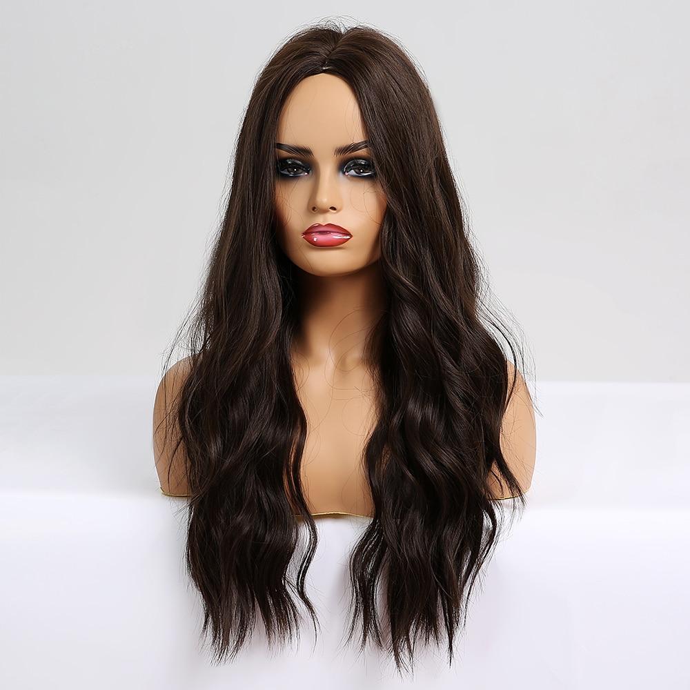 Easihair peruca longa ombré sintética, de castanho