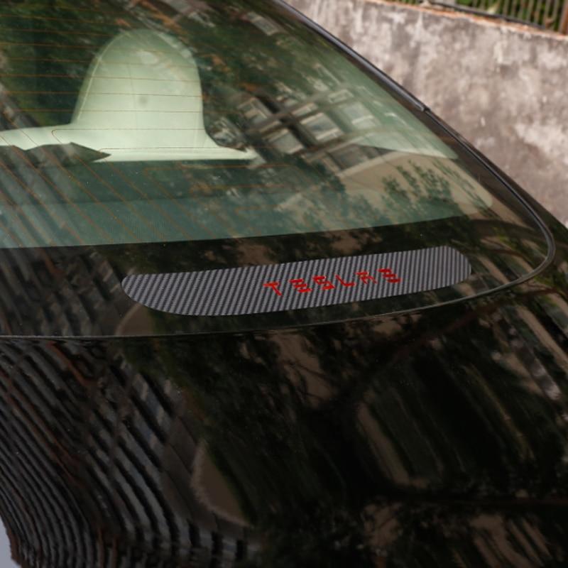 Foal Burning 1PCS Rear Brake Light Sticker 3D carbon fiber Sticker For Tesla Model 3 18 19|Car Stickers| |  - title=