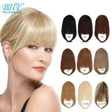 BHF — Frange frontale de cheveux naturels «remy », pouces, coupe raide, 8 pouces, 20 g, 3 pinces