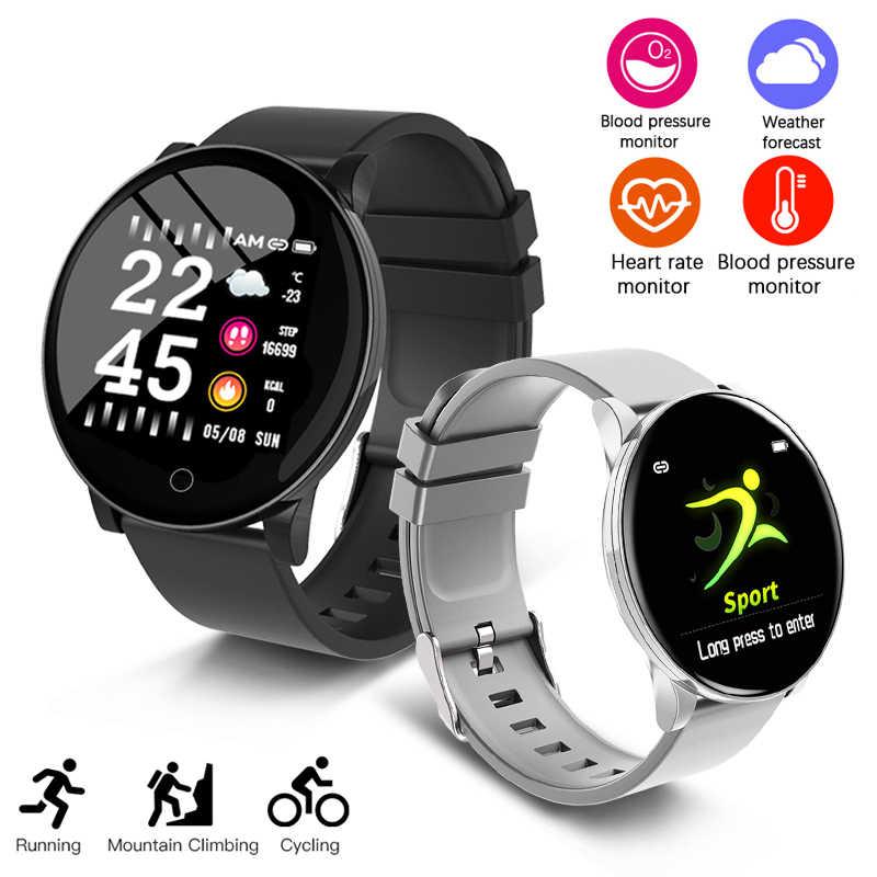 Baru Olahraga Smart Watch Wanita Pria Tahan Air Smart Gelang Bluetooth Monitor Detak Jantung Kebugaran Tracker Pedometer Smartwatch + Kotak