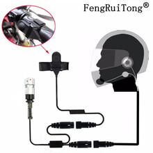 Helmet Headset 6 Pin PTT Motorcycle Half helmet Headphone For TRI TCA/AN PRC-148 PRC-152 Walkie Talkie PRC148 PRC152