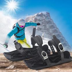 Hot Koop Ski Schoenen multifunctionele 1 Paar Ski Schoenen Winter Outdoor Sneeuw Skateboard Mini Slee Sport Apparatuur Zwart