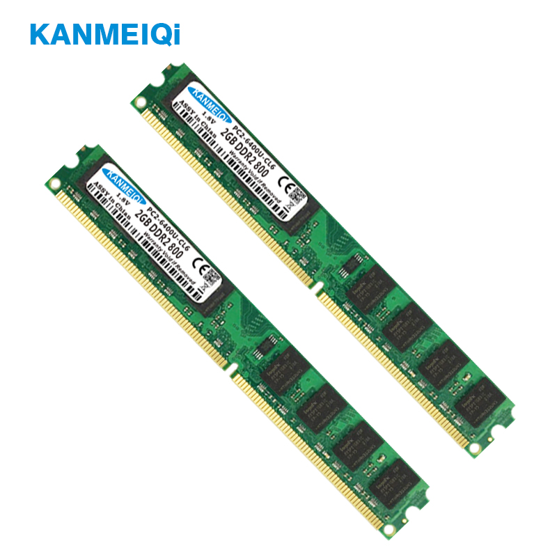 KANMEIQi DDR2 2GB RAM for Desktop with 800MHz Memory Speed 1