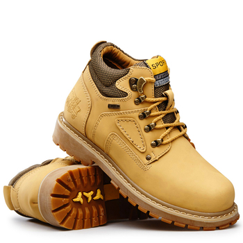 Yellow Cat Leather Ankle Boots Men Timber Men Casual Shoes 2020 land Work Boots Men Waterproof Bot Men Winter Shoes Big Size