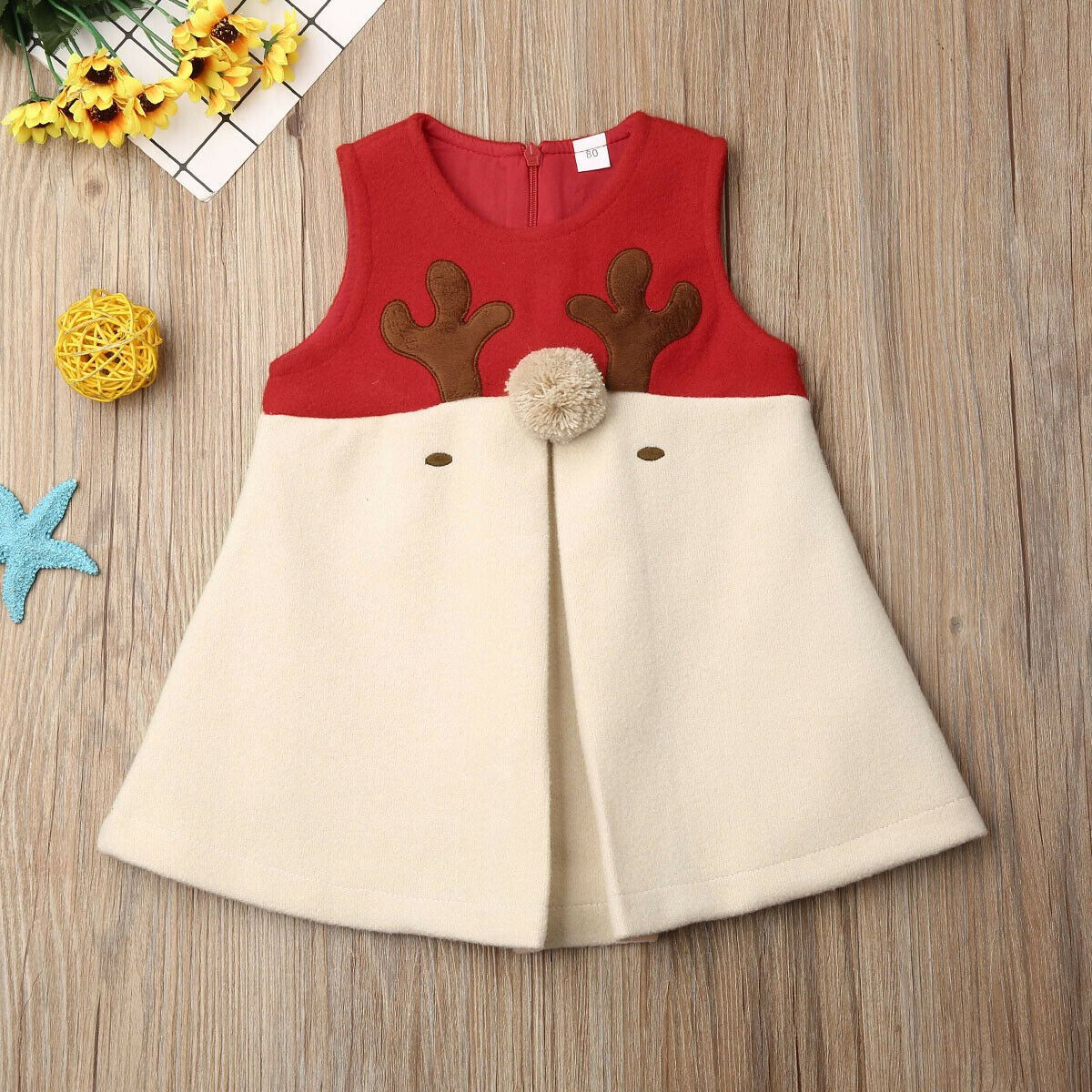 Uk Christmas Dress Newborn Baby Girls Clothes Hairy Christmas Xmas Vest Outwear Antlers Clothes 1 5t Dresses Aliexpress