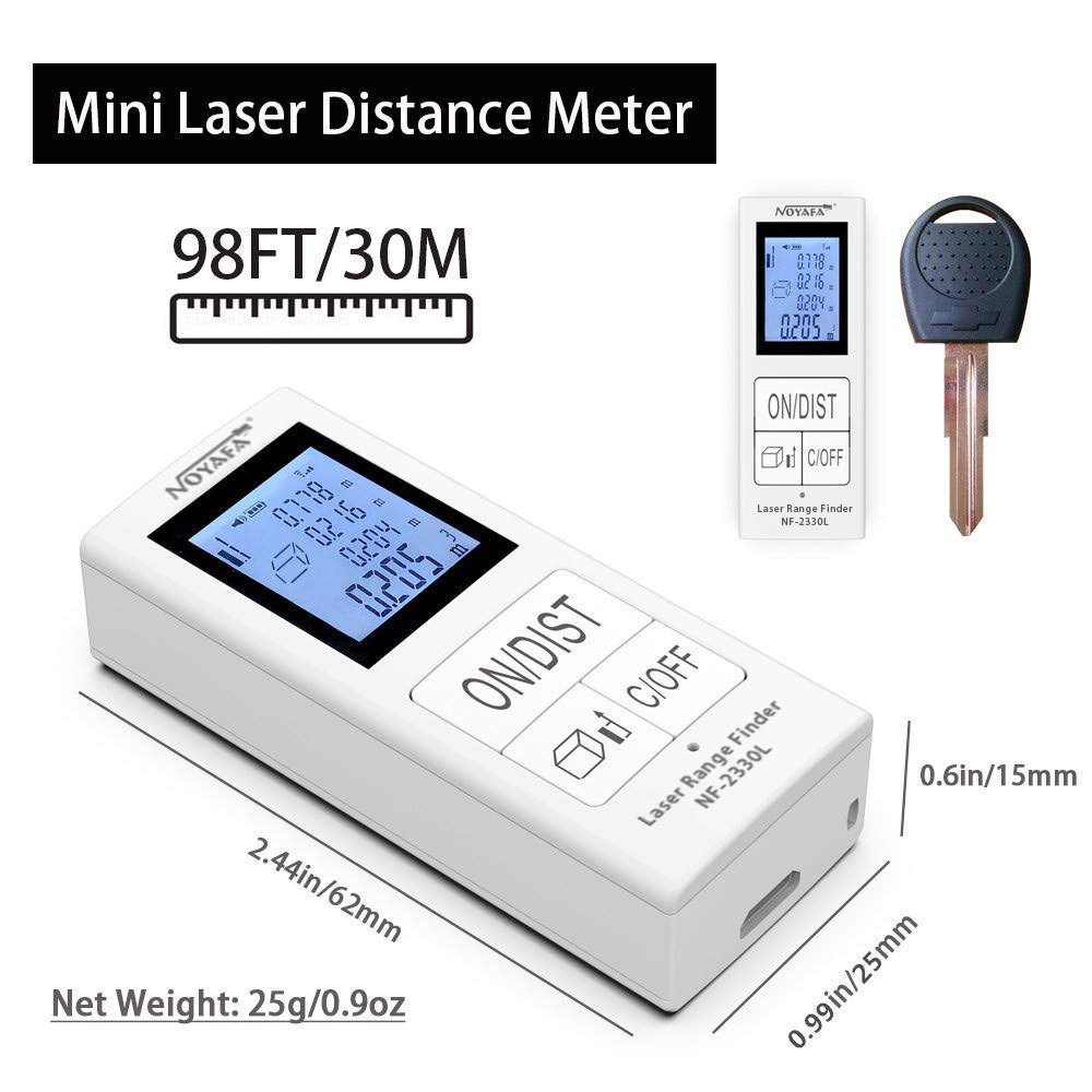 NOYAFA Super Mini NF-2330L Laser Distance Meter 30m 98ft Measuring Range Digital Rangefinders