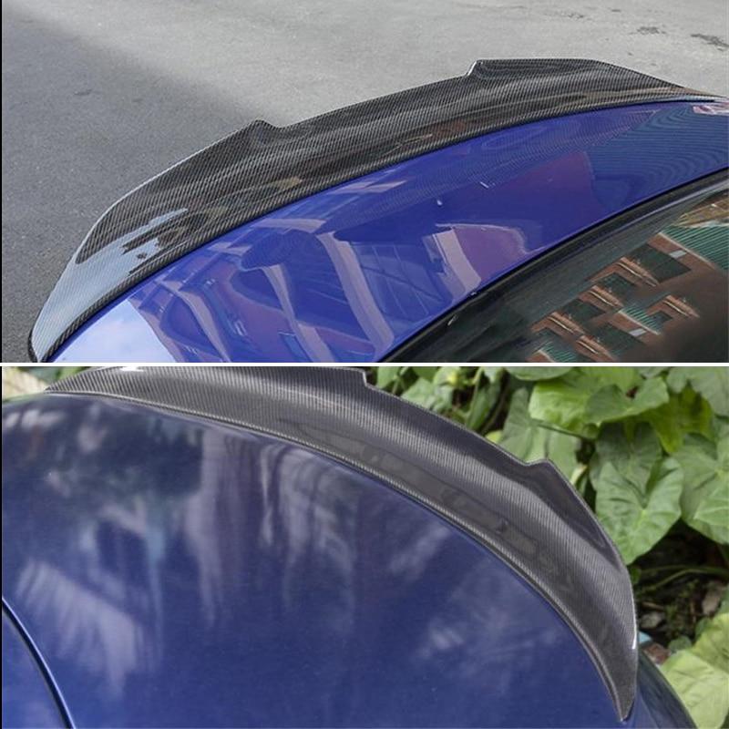 Verwenden für BMW 3 Serie E90 spoiler 2005-2012 jahr limousine 4-tür real carbon fiber hinten flügel psm stil Sport Zubehör körper kit