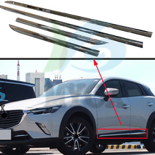Door-Body-Strips Cx3 Chrome-Molding Car-Styling for Mazda Trim-Covers