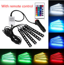 9 LED lights colorful interior 5050RGB 4 In1 foot light  atmosphere light  interior decoration light atmosphere light