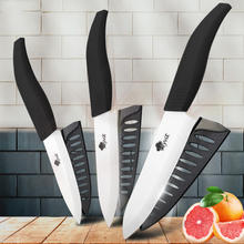 Ceramic Knife Set 3 4 5 6 inch kitchen knives Set Zirconia White Blade Black Chef Utility Slicing Paring Fruit Vegetables Cutter xs410 d9 4 chic ceramic knife black white