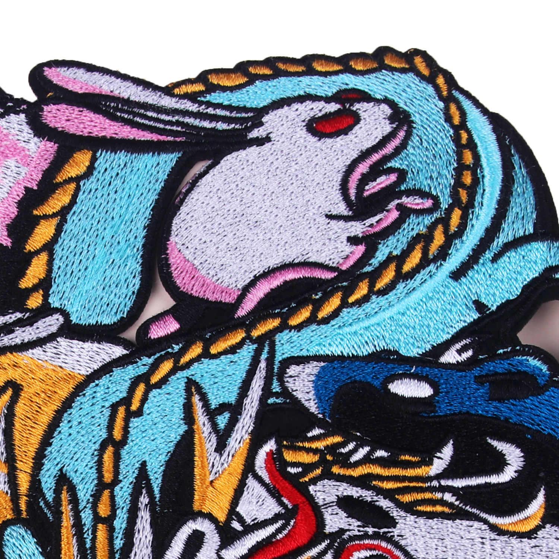 Cartoon Nähen-auf Tier Chinesischen Sternzeichen Patches Tuch Stickerei Tuch Subventionieren Kleidung Jeans Verwenden Loch Kleidung Zubehör