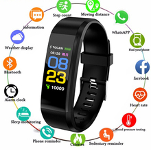 ID115 Plus Smart Wristbands Health Monitor Heart rate/Blood Pressure/Pedometer Bluetooth Wa