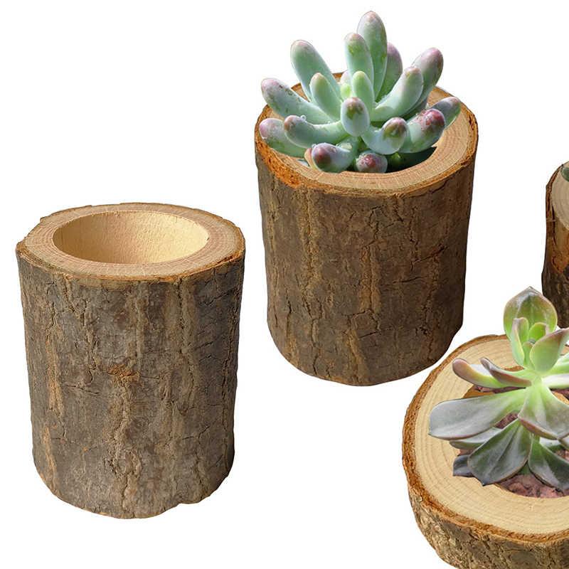 Pilastro di legno di Disegno del Supporto di Candela Tealight Del Basamento In Legno Candeliere O Succulente Vaso di Fiori Rustico di Cerimonia Nuziale Del Partito Della Decorazione Della Casa