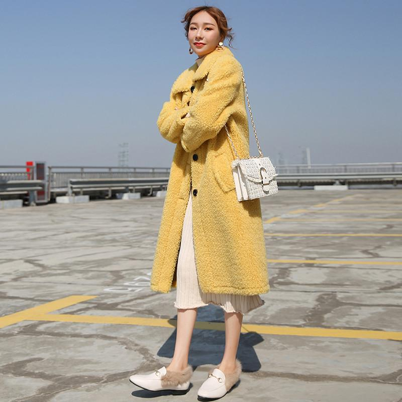 Women Artificial Sheep Shearling Coats Faux Lambswool Jacket Female Winter Casual Long Sleeve Overcoat Thicken Warm Outwear