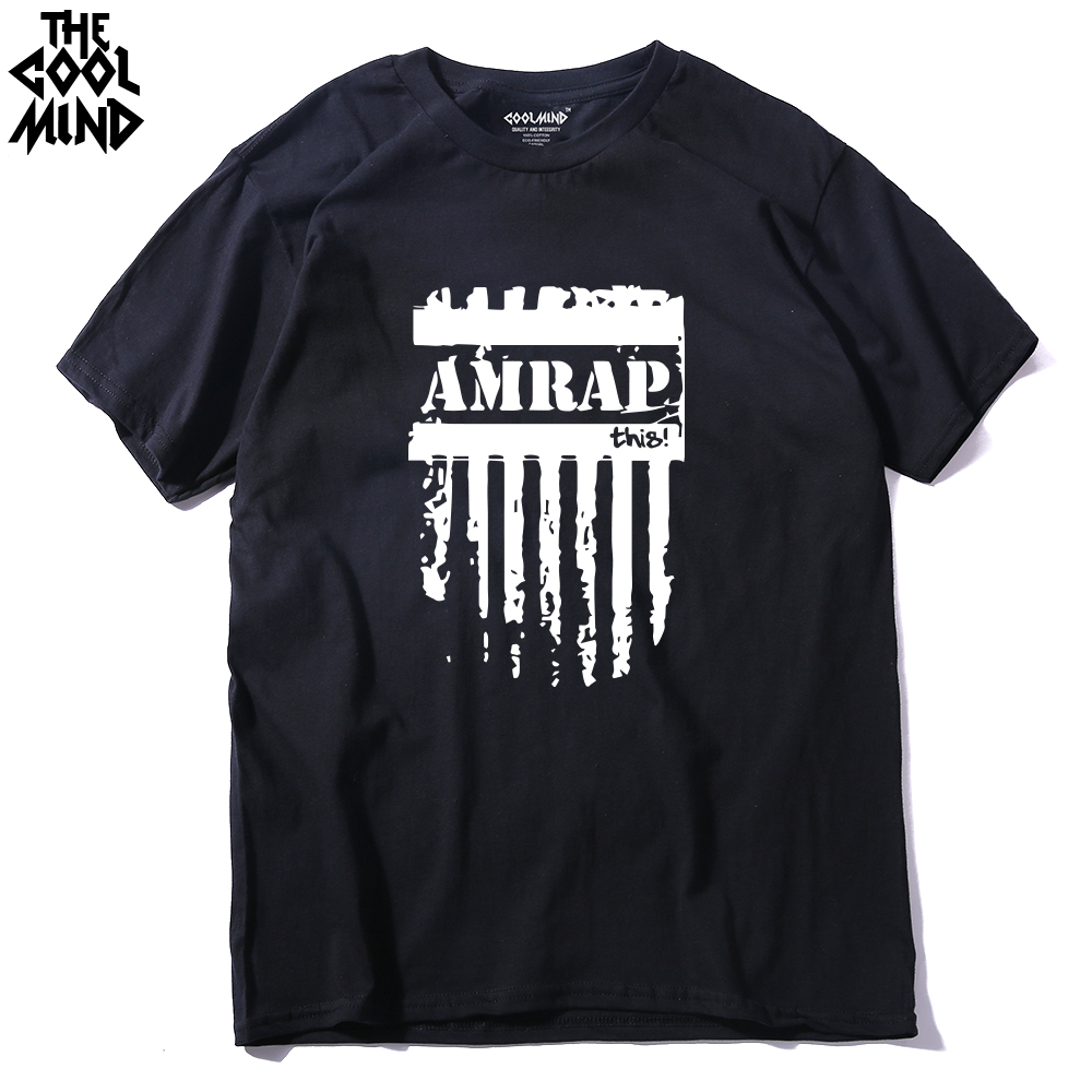 COOLMIND AM0112A Trendy Fashion Amrap T Shirts Men This Crossfit Man T Shirt Casual O Neck Mens Tops Short Sleeve Men Tees Shirt