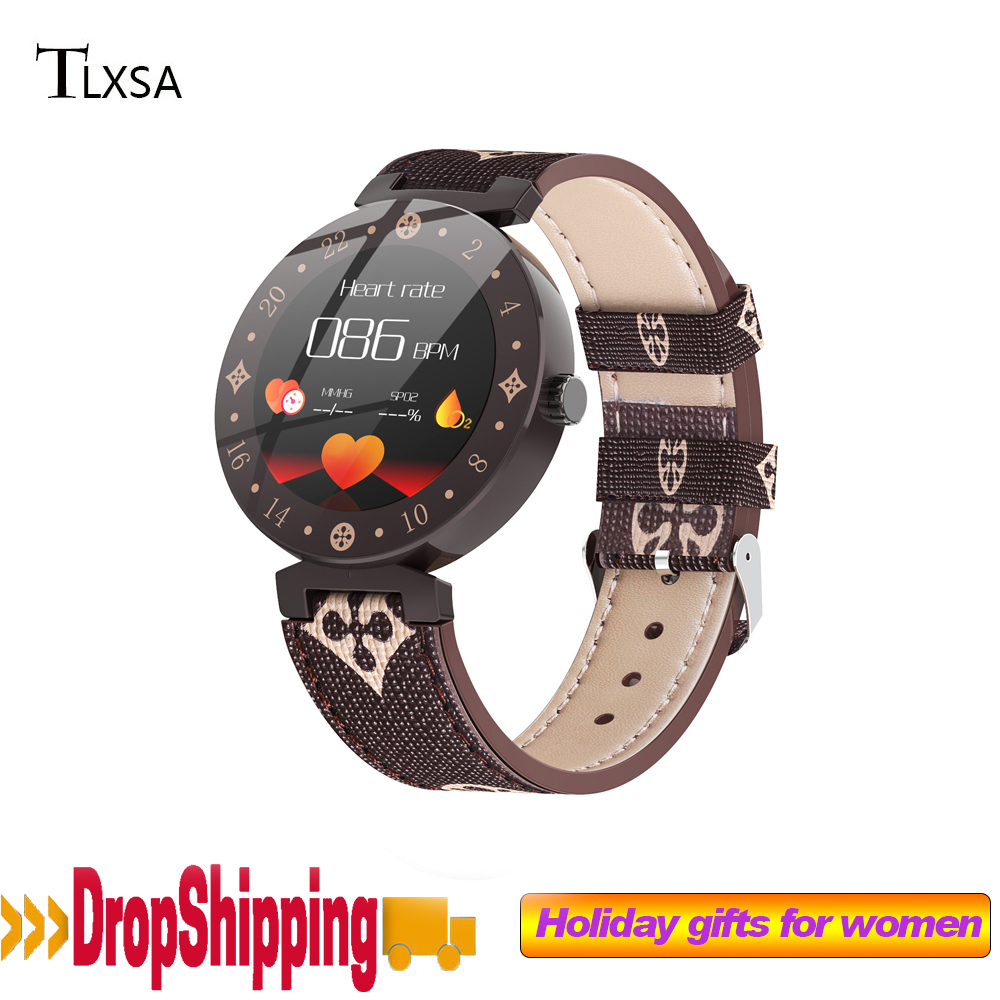 Fashion Ceramics Woman Smart Watch For Girl gift Heart Rate Monitoring fitness Watches Women Smartwatch Waterproof Android IOS