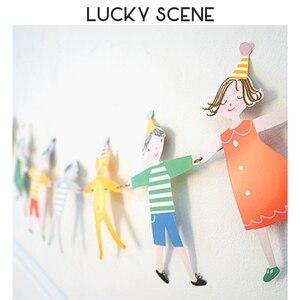 Веселые детские флаги с рисунками животных для празднования дня рождения, украшения S00028