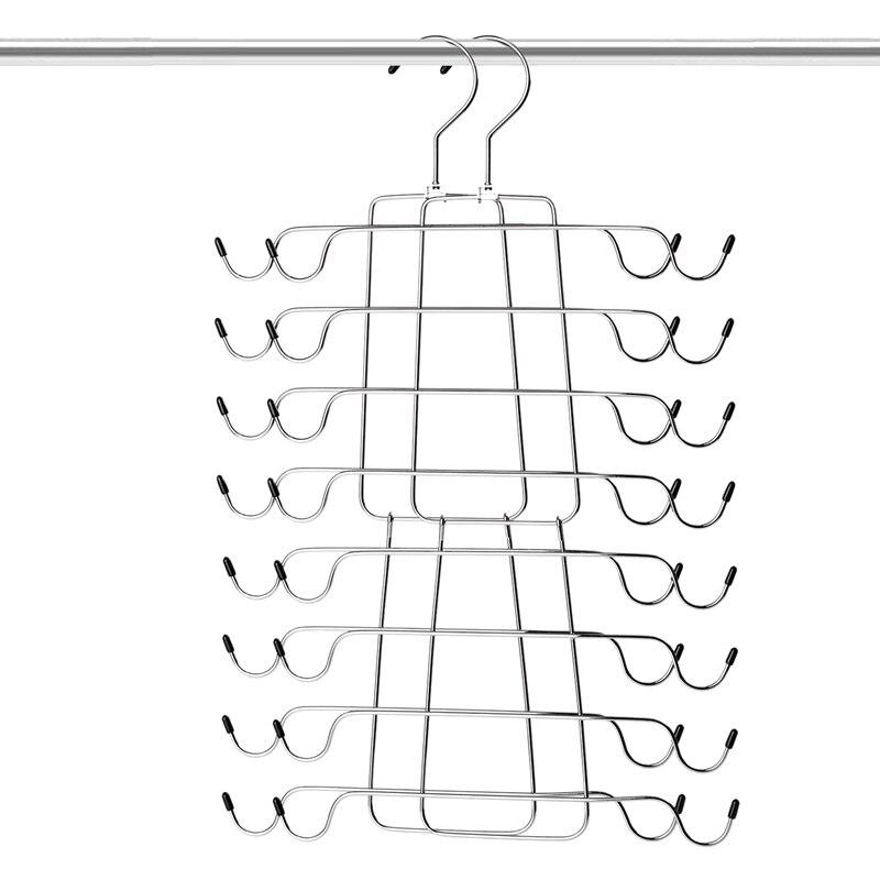 Tank Tops Hanger Metal Folding Space Saving Hanger Closet Organizer For Tank Tops, Cami, Bras, Bathing Suits, Belts, Ties(2 Pack