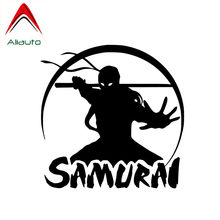 Aliauto Cool Car Sticker Japan Samurai Vechten Moving Warrior Waterdicht Vinyl Sticker Voor Motorfiets Jdm Lexus Suzuki,13 Cm * 13 Cm(China)