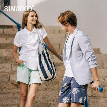 SIMWOOD 2020 Summer New Polo Shirt men fashion print 100% cotton breathable causal tops plus size high quality polo SJ130070