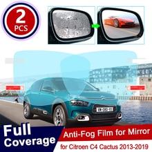 for Citroen C4 Cactus 2013~2019 Full Cover Anti Fog Film Rearview Mirror Rainproof Clear Anti-fog Films Car Accessories 2014