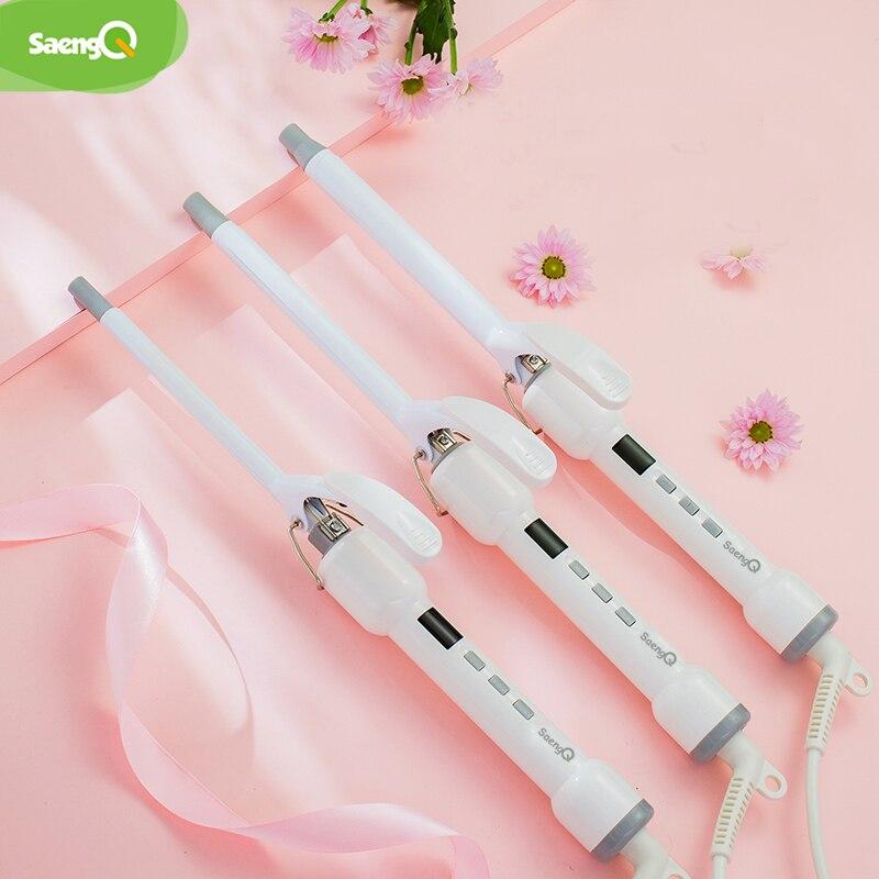 SaengQ Hair Curler Not Hurt Hair Mini Perm Stick Electric Hair Stick Buckle Hair Curler Air Bangs Electric Coil 9/13/16MM