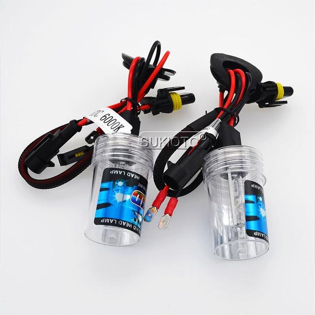 SUKIOTO Premium 12V Metal Base 35W H7C 4300K 5000K 8000K HID Xenon Bulb Lamps 55W H7 H7C 6000K Short Tube Car Accessory Light