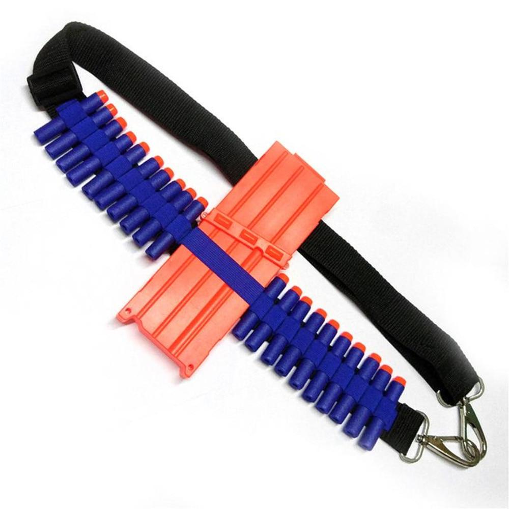 For Nerf N-strike Blasters Cartridge Holder,Bandolier Toy Gun Soft Bullets Belt Shoulder Strap Clip Charger Darts Ammo Storage