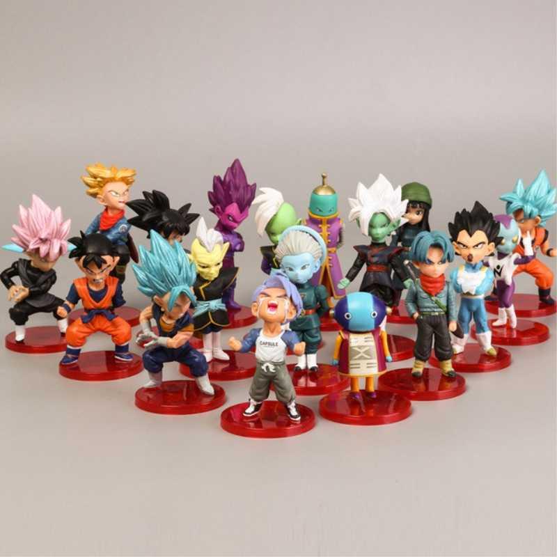 Estilo 18 8cm X 3 centímetros Mini-figuras de Ação Saiyan Goku Gohan Vegeta Dragon Ball Z Figura Meninos Brinquedo PVC Anime Modelo Coleção Toy Kid