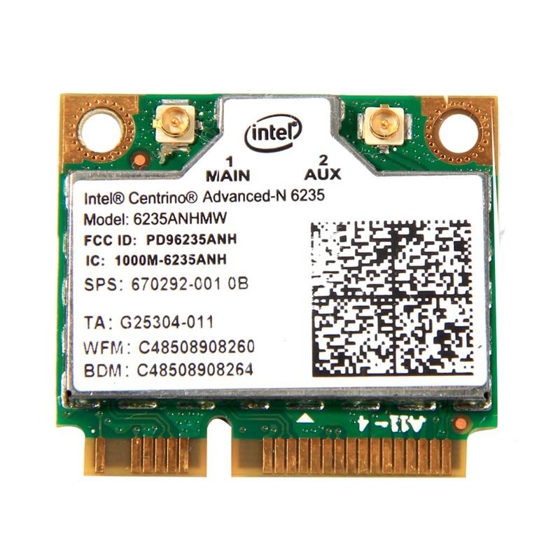Dual Band 300Mbps Wireless Bluetooth 4.0 For Intel Centrino Advanced-N 6235 6235ANHMW Half Mini PCI-E Wifi Card 802.11Agn