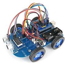 N20 موتور تروس 4WD بلوتوث التحكم الذكية سيارة روبوت عدة مع البرنامج التعليمي لاردوينو