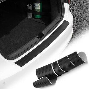Pegatinas de parachoques trasero de coche, adhesivo Protector de maletero para BMW E60 Ford focus 2 Kuga Mazda 3 cx-5 Volkswagen Polo Golf 4 6 GTI