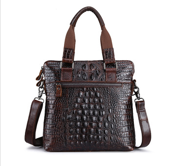 XIYUAN men brown Crocodile skin large Capacity Handbag male new Computer handbags Crossbody bags Shoulder Bag Man Messenger Bag maytoni arm154 08 s