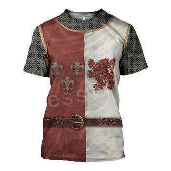 Tessffel Knights Templar Armor Cavalier Streetwear Harajuku Tracksuit New Fashion 3DPrint Unisex Shorts T-shirts Men/Women s-4 1