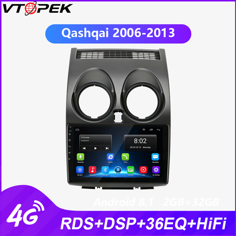 Vtopek Android Car Multimedia Video Player Radio for Nissan