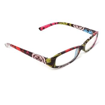 Pasiaste okulary do czytania starczowzroczność z żywicy soczewki okulary z torbą + 1 0 ~ + 4 0 tanie i dobre opinie NoEnName_Null WOMEN Unisex Przezroczysty Lustro Szkło Z tworzywa sztucznego