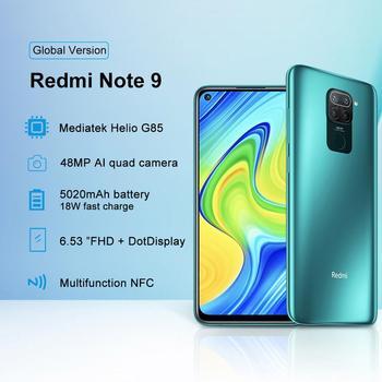 "Новая глобальная версия Redmi Note 9 128 ГБ 4 ГБ смартфон Helio G85 5020 мАч аккумулятор 18 Вт Быстрая зарядка 6,53 ""DotDisplay камера 48 МП, алиэкспресс на русском с бесплатной"