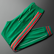 Новые весенне-осенние тонкие спортивные повседневные брюки с полосками по бокам для мужчин и женщин узкие брюки для маленьких ног спортивн...