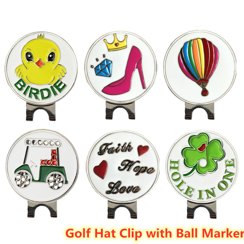 Finger Ten Golf Markers Golf Hat Clip Caps Belt Official Alloy Metal Magnetic With Ball Mark Accessories Sign Alignment 1 Pc