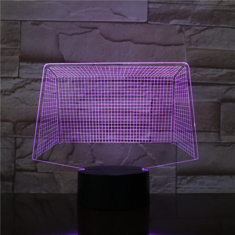 Football Net 3D LED Acrylic Night Light with 7/16 Colors Touch Remote Control Illusion Change Home Decoration Lights 3D-2570 image