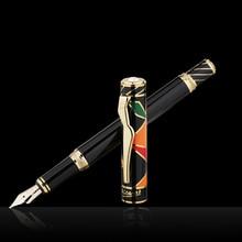 Pimio עט 10k זהב ציפורן גבוהה end עסק אריזת מתנה אמנות ps 80 בורג כובע אופנה מזדמן מזרקה עטים