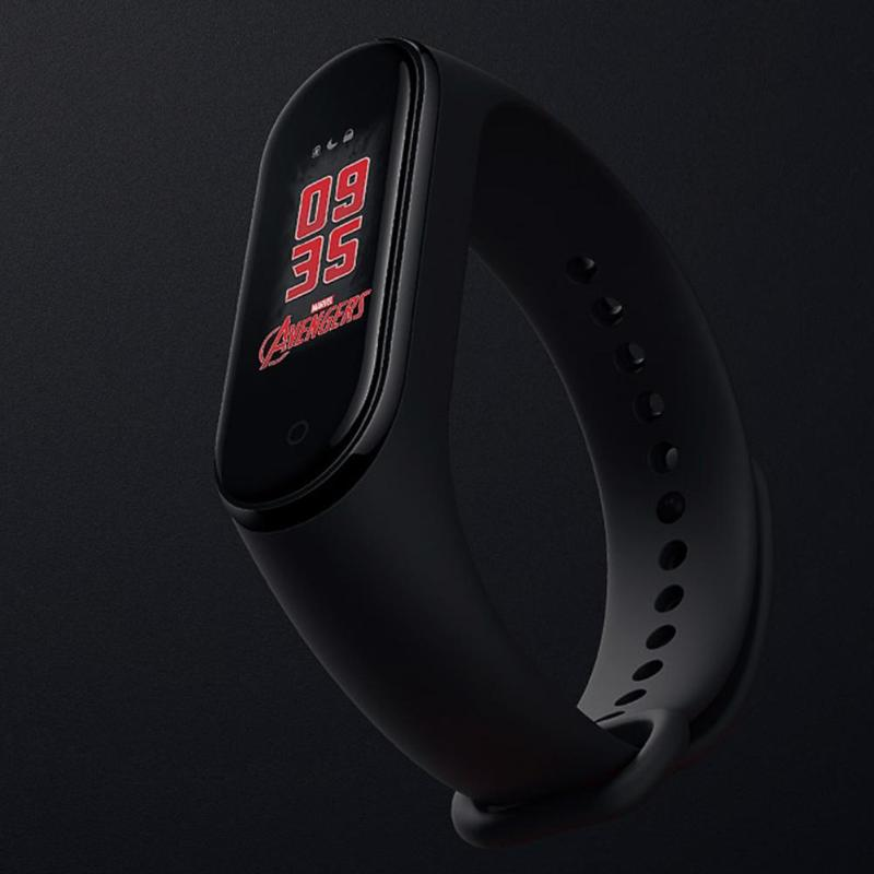 Xiaomi Mi Band 4 The Avengers Fitness Tracker OTA Upgrade Timer Countdown Weather Forecast Smart Wristband Chinese Version in Smart Wristbands from Consumer Electronics