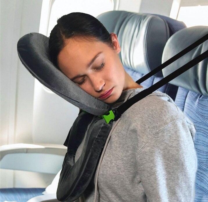 Multi-function Folding Travel Pillow Convenient Office Travel Lunch Break Sleep Pillow U-shaped Neck Pillow