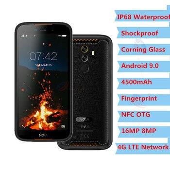 2019 New Arrive IP68 Smartphone NFC Android 9.0 Corning Glass Mobile Phone 16MP 1080P OTG 3GB RAM 16GB ROM 4500mAh Big Cellphone