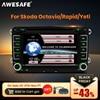 AWESAFE 2 Din 7 Inch Car DVD Player Car radio For Skoda/Octavia/Roomster/Fabia/Yeti/Seat/Altea/VW/Polo Car Radio GPS Autoradio