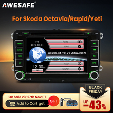 AWESAFE 2 Din 7 Inch Car DVD Player Car radio For Skoda/Octavia/Roomster/Fabia/Yeti/Seat/Altea/VW/Polo Car Radio GPS Autoradio