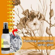30/100ml Quick Dry Fixer Sprayer Oxidation Liquid Paint Art Fixed Artist Spray Protective Coating JR Deals