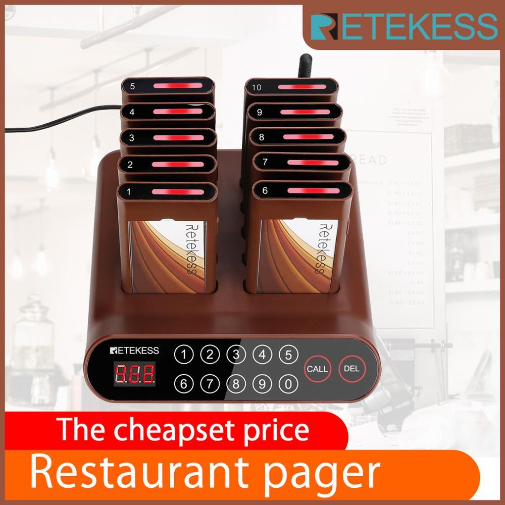 RETEKESS T116A Cheapest Restaurant Pager Waiter Calling System Food Pager Queue Calling System For Restaurant Worship Church