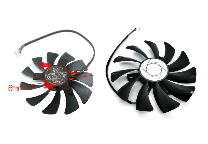 85mm 4pin HA9010H12SF-Z RX460 4GB Cooler Fan Replace for MSI Inno3D P106 960 GeForce GTX 1060 AERO ITX 3G 6G OC Video card HZDO image