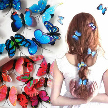 Fashion Jewelry Headwear Hair-Accessories Butterfly Wedding-Photography Bridal Plastic